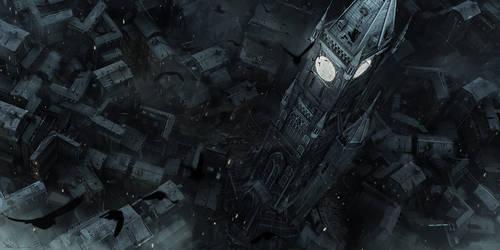Clocktower Top view by MatLatArt
