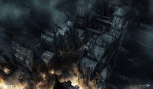 Thief - Audale bridge Burning by MatLatArt