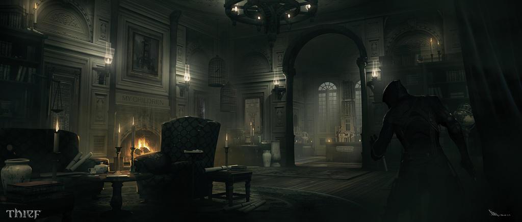 Thief Architect Mansion Llivingroom By Matlatart On