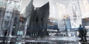 Deus Ex Mankind Divided - Prague modern District