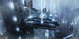 Deus Ex Mankind Divided - London tower helipad