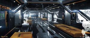 Deus Ex Mankind Divided - London tower corridor 03