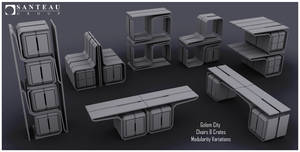 Deus Ex Mankind Divided - chairs crates modularity