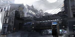 Deus Ex Mankind Divided - Prague street 03