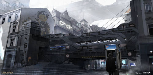 Deus Ex Mankind Divided - Prague street 03 by MatLatArt