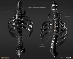 Deus Ex Mankind Divided - Adam aug spine by MatLatArt