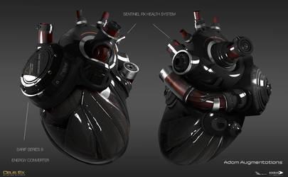 Deus Ex Mankind Divided - Adam aug heart by MatLatArt