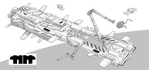 Hammer Head - Repair Ship by MatLatArt