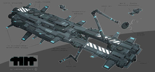 Spaceship01cols by MatLatArt