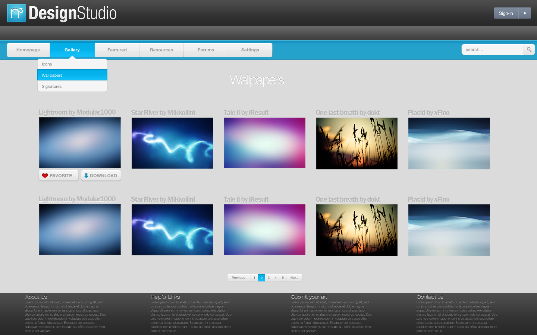 N3 Design Studio Website by ~NomNuggetNom on deviantART