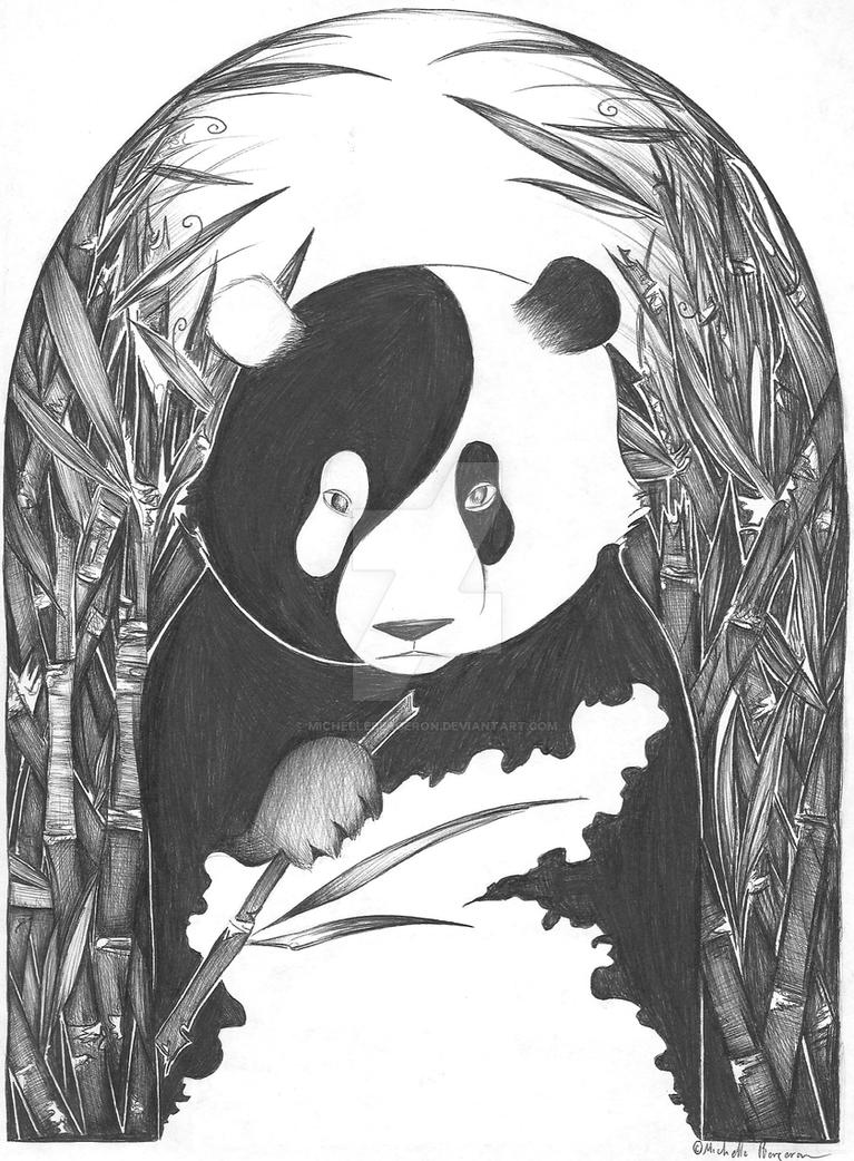 Yin Yang Panda Bear by MichelleBergeron