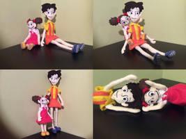 Satsuki and Mei (felt dolls)