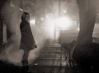 Against the Light - KT and pup by rogue-designer