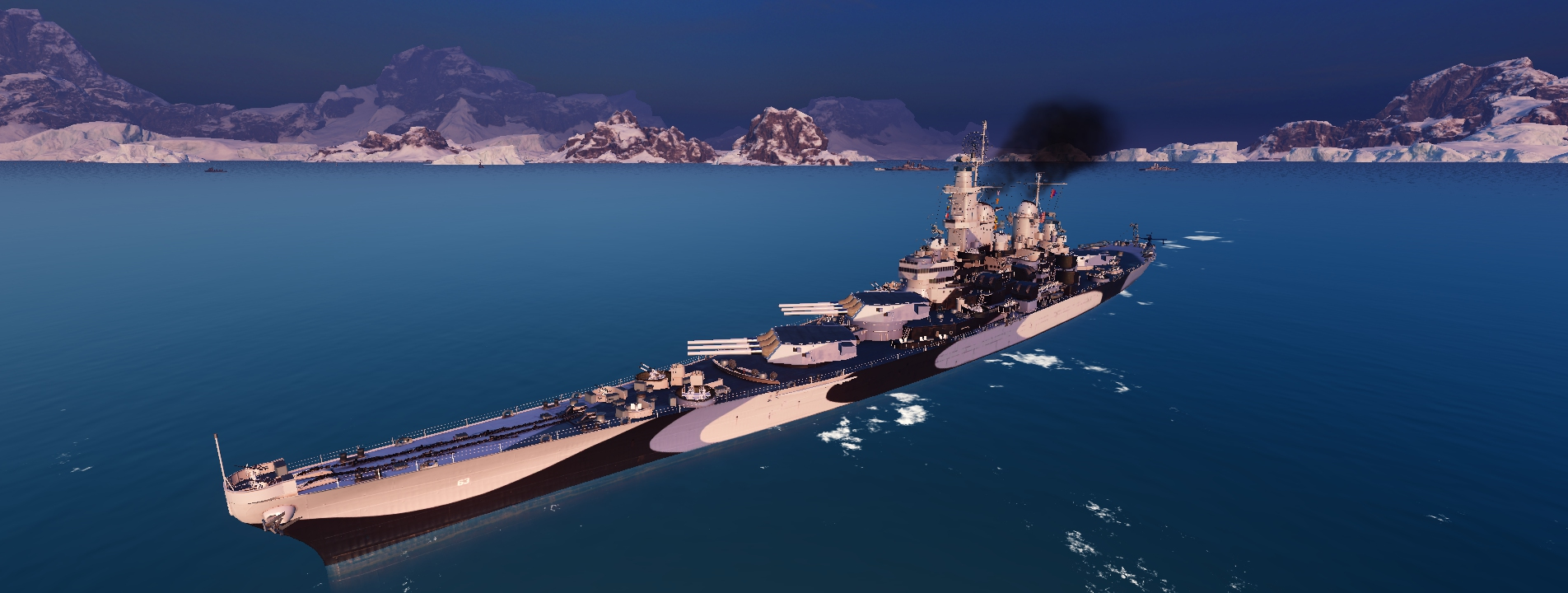 World of Warships: Iowa on Ice by PH-PennySnowFlyer