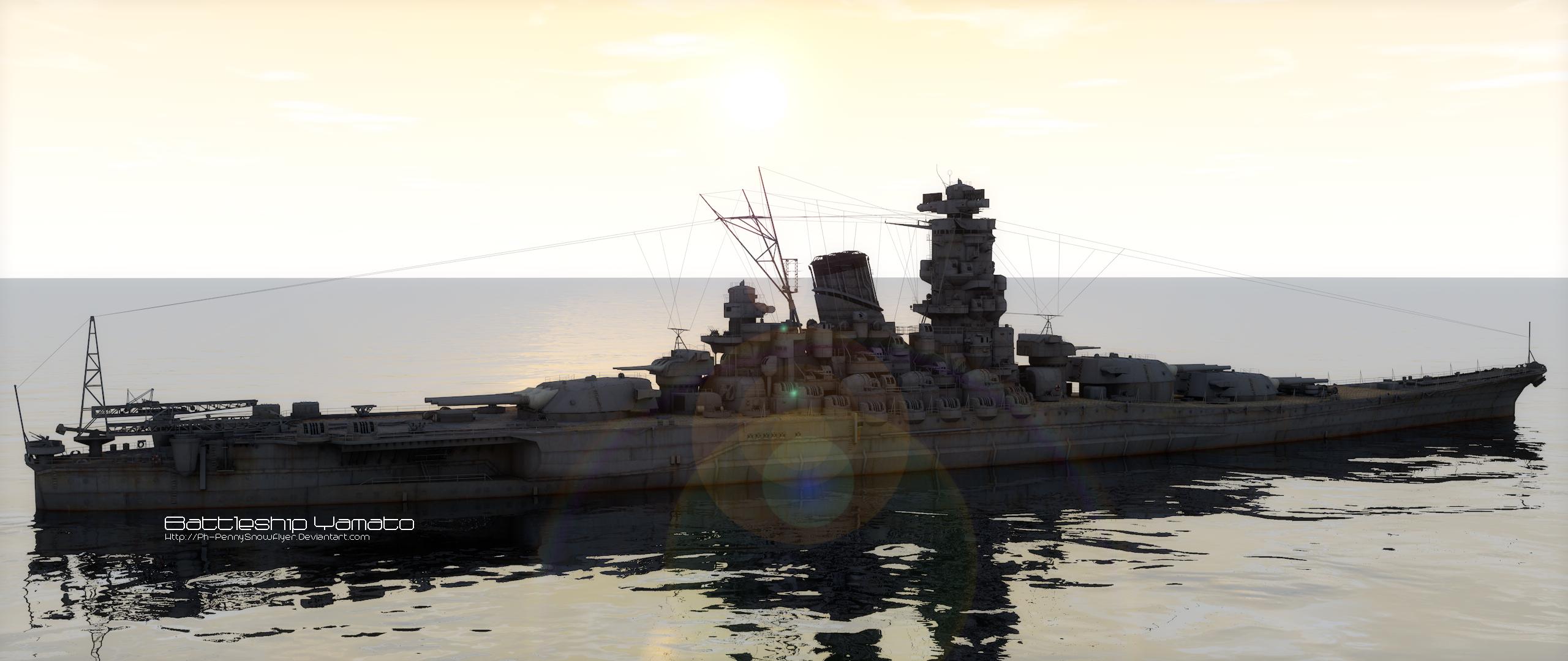 Cinema 4d battleship yamato fan art and community creations cinema 4d battleship yamato by ph pennysnowflyer malvernweather Images