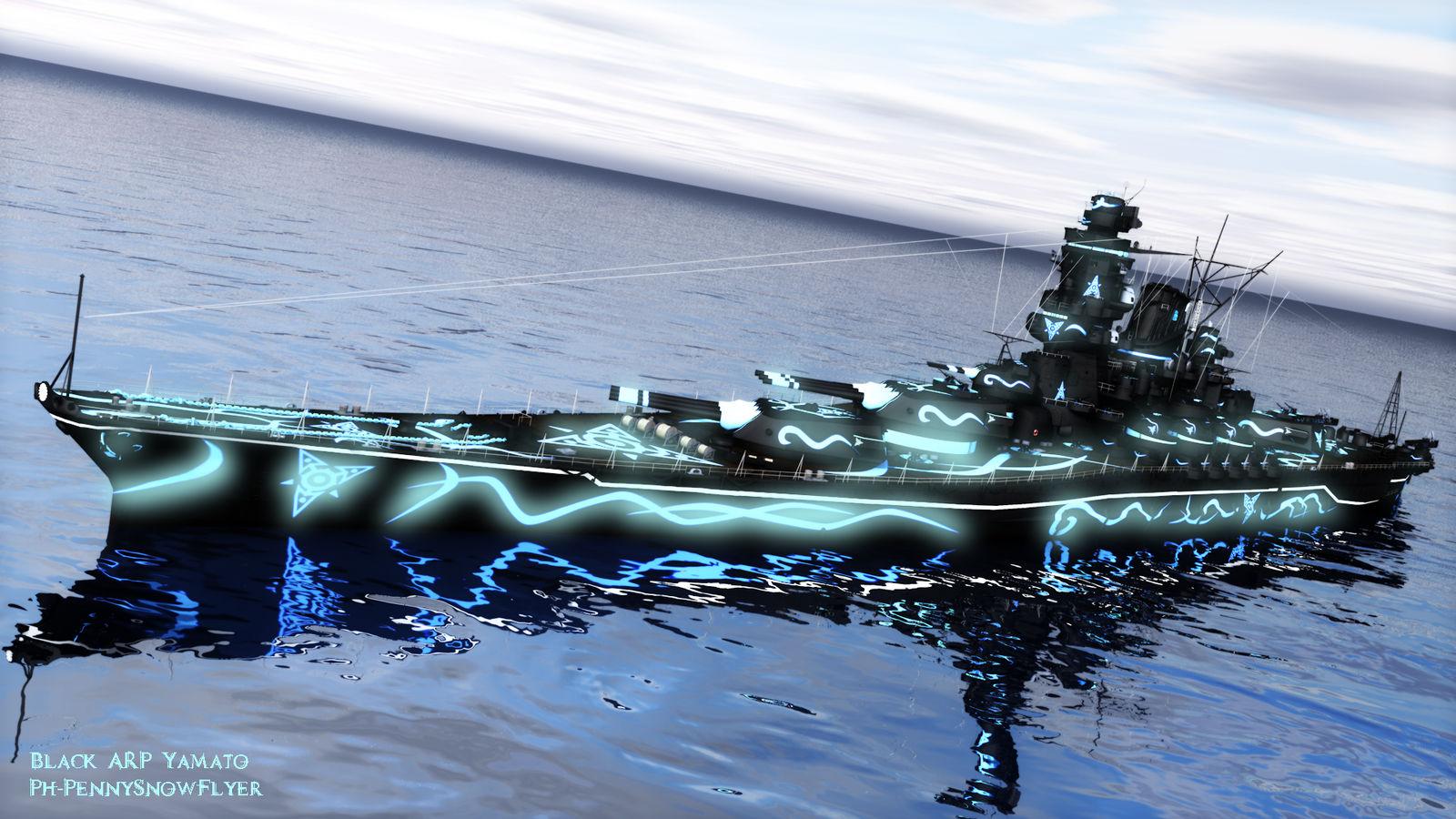 World of Warships: Black ARP Yamato by PH-PennySnowFlyer on