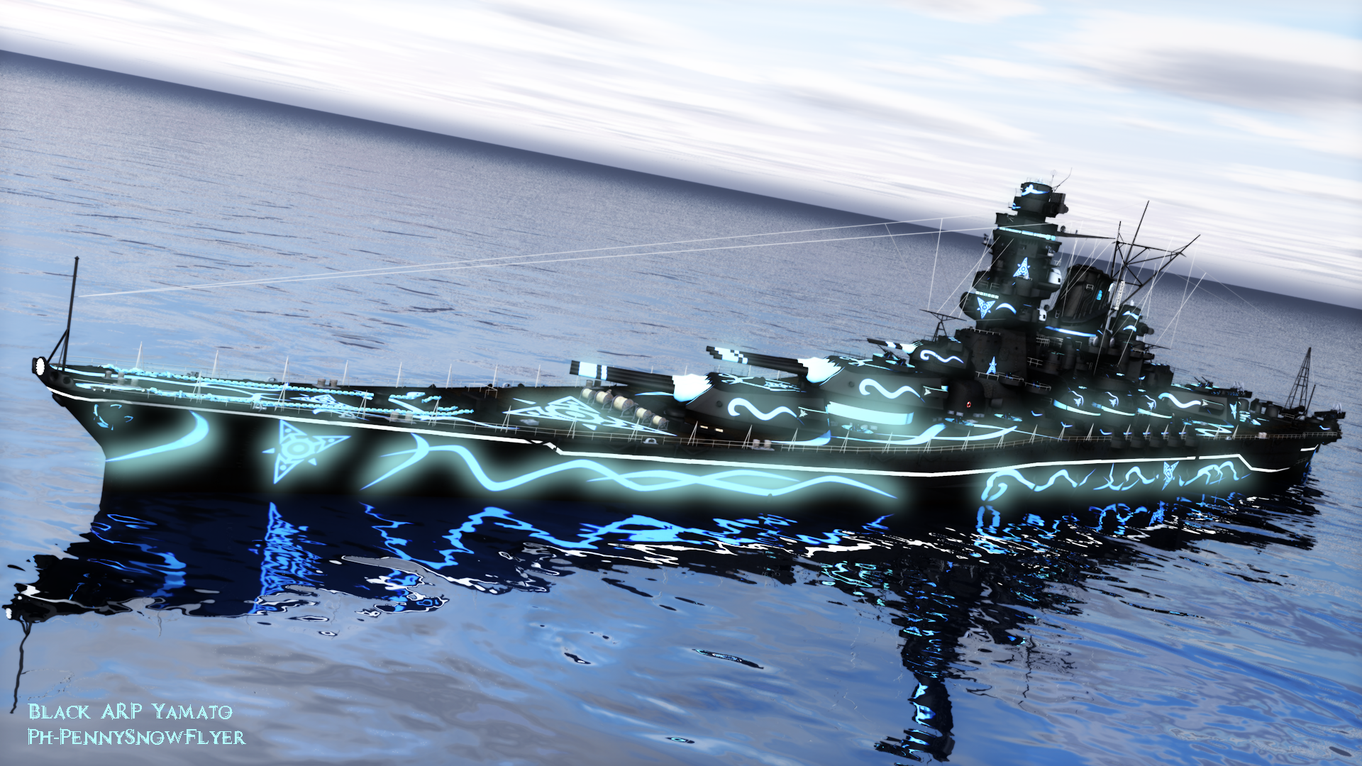 World of Warships: Black ARP Yamato by PH-PennySnowFlyer