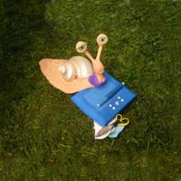 Sarah the scrapbooking snail