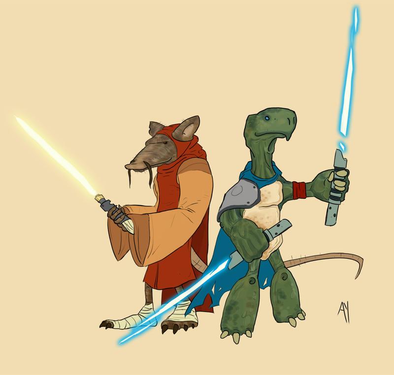 TMNT Jedi by Ryan-Rhodes