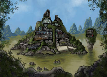Saitan Island Cutaway by Scarecrovv