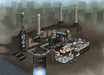 Battersea Powerstation Time Elevator by Scarecrovv