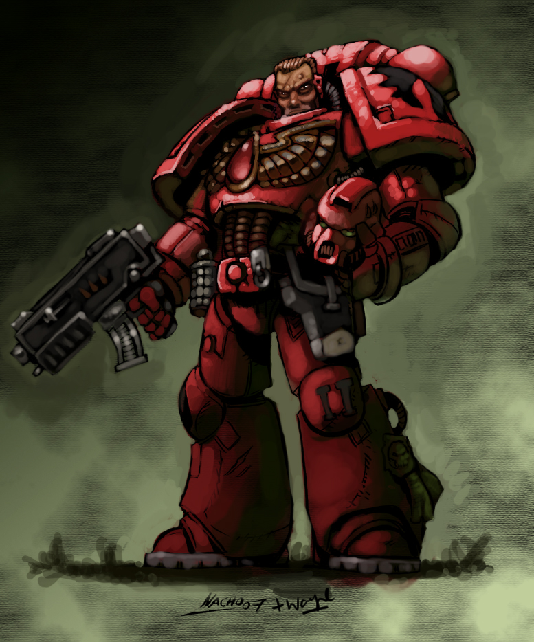 [W40K] Collection d'images : Space Marines Blood_Angel_by_Scarecrovv