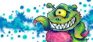 wavy monster by casebasket