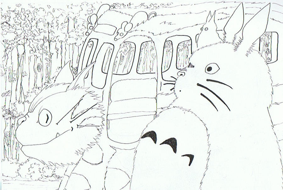 Neighbor totoro coloring pages