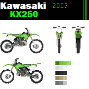 Kawasaki Kx250 Dirt bike pixel art by mcloven1