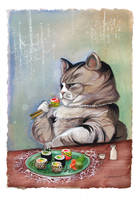 Sushi Cat- Fancy Feast by BlueBirdie