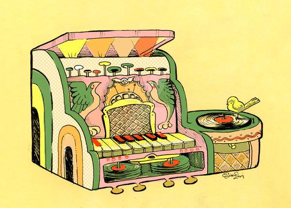 Fantastical piano Machine 1 by BlueBirdie