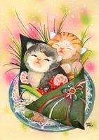 Sushi cat 11 Kitty Handroll by BlueBirdie