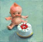 Peculiar cake afternoon