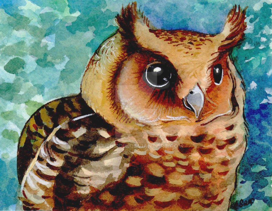 enchanted owl by BlueBirdie