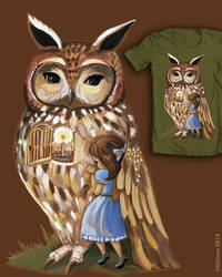 UNder Your Wing Owl Threadless Submission