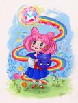 Sailor Chibi Moon Retro Shoujo Fanart