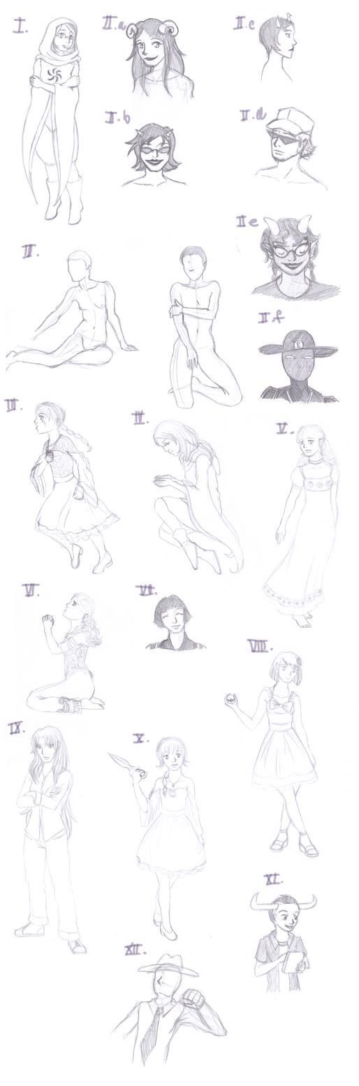 Sketchdump - 2013 by laprasek