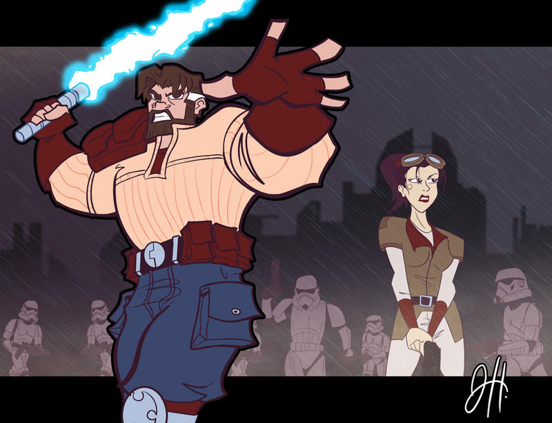 Just Another Day - Kyle Katarn by JoeHoganArt