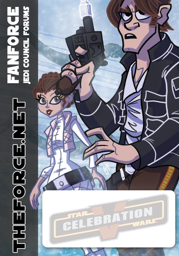 Star Wars - Han and Leia Badge by JoeHoganArt