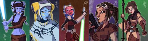 Women of Star Wars III by JoeHoganArt