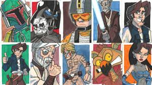 OT Prizes - Trad Sketch Cards by JoeHoganArt
