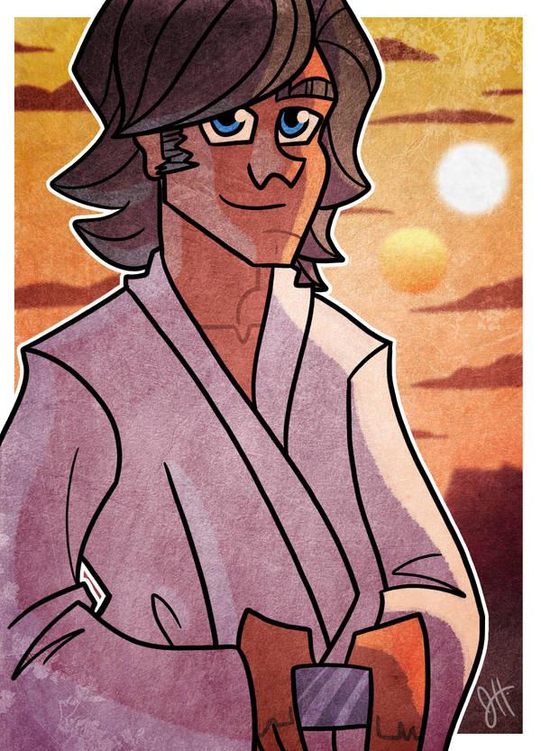 Luke Skywalker Digi SC by JoeHoganArt