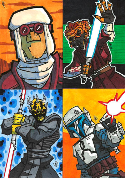 Commissioned Sketch Cards 07 by JoeHoganArt