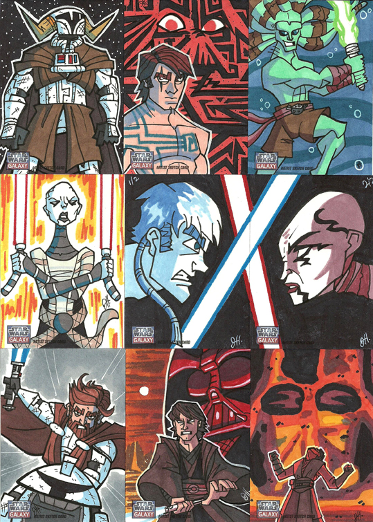Topps Star Wars G7 - 08 Clone Wars by JoeHoganArt