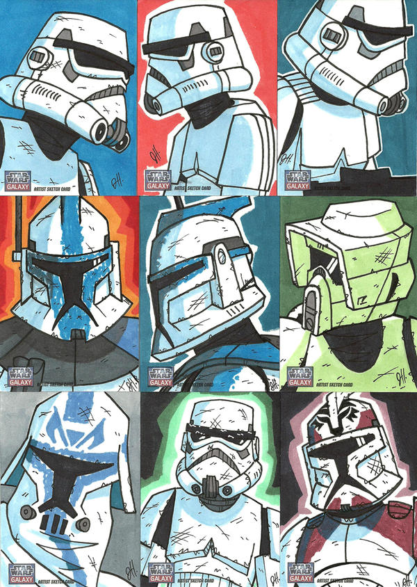 Topps Star Wars G7 - 12 Troops by JoeHoganArt