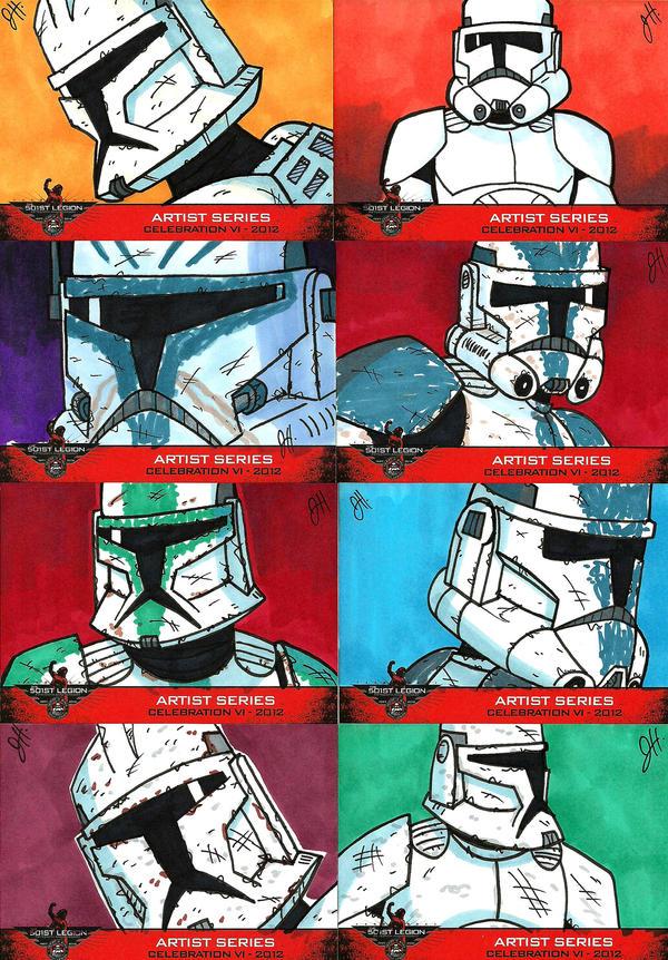 501st Celebration VI Sketch Cards 01 by JoeHoganArt