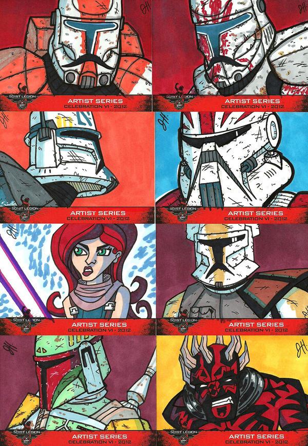501st Celebration VI Sketch Cards 02 by JoeHoganArt