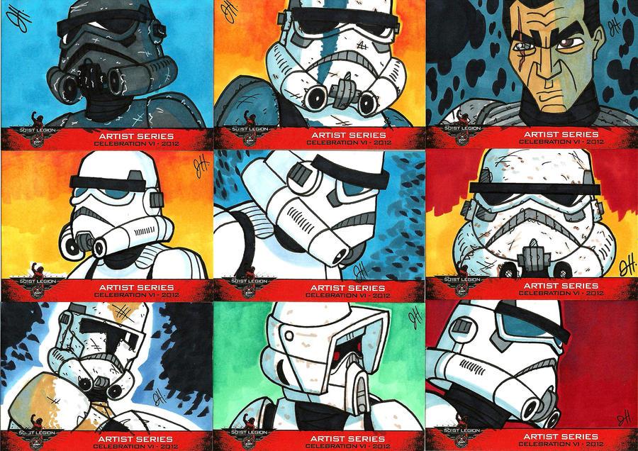 501st Celebration VI Sketch Cards 03 by JoeHoganArt