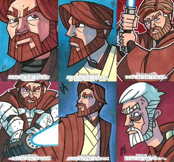 Topps SWGF 07 - Ben Kenobi by JoeHoganArt