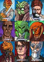 Topps SWGF Series 2 - 05 - Jedi by JoeHoganArt